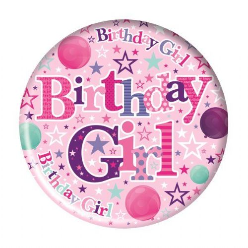 Badge 15cm Happy Birthday Birthday Girl